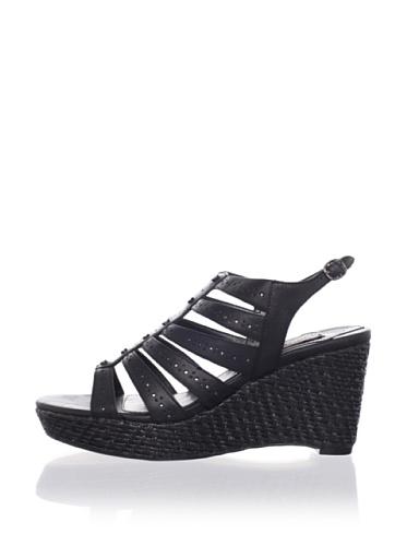 Adrienne Vittadini Women's Cody Platform Sandal (Black)