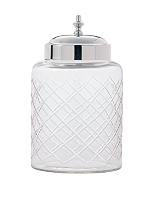Torre & Tagus Medium Cut Glass Canister