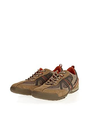 Geox Uomo Traccia U2209G01122C0608 - Zapatillas de ante para hombre (Beige)
