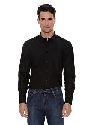 Versace Camisa Lisa Vestir (Negro)