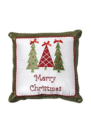 Pillow Perfect Merry Christmas Trees Throw Pillow