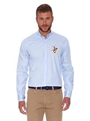 Polo Club Camisa Hombre Fitted (Azul Celeste)