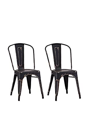 Zuo Modern Elio Set of 2 Industrial Dining Chairs