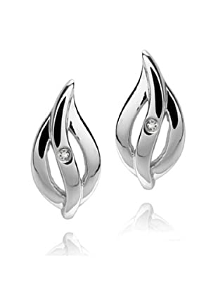 Damen-Ohrstecker Sterling Silber Diamant Flamme