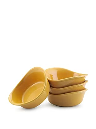 Rachael Ray Lil' Saucy Set of 4 Stoneware Dipping Cups (Yellow)