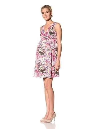 Lilac Maternity Summer Dress (Paisley Print)