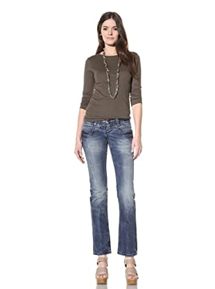 M.O.D Miracle of Denim Women's Lia Slim Fit Straight Leg Jean (New Blue)