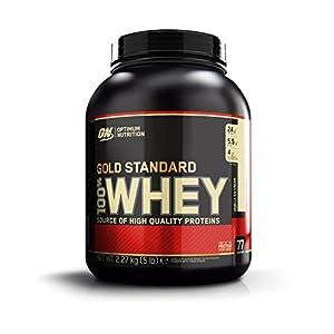 Optimum Nutrition ON 100% Whey Gold Standard, Vanilla IceCream(5 Lbs)