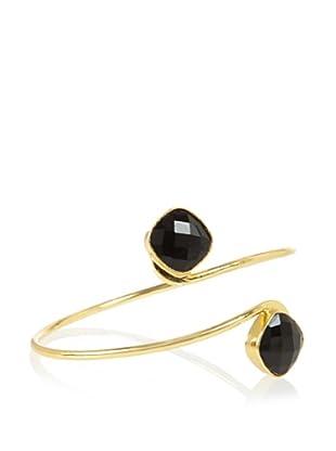 Charlene K Black Onyx Double Gemstone Bangle