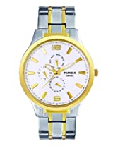 Timex Empera Multi-Function Analog White Dial Men's Watch - TI000K10600