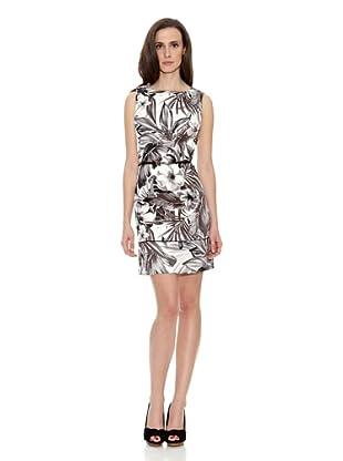 Cortefiel Vestido Jackie Print Tropical (Negro / Blanco)
