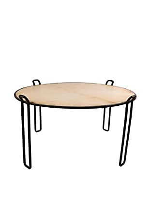Jamie Young Round Steel Vellum Coffee Table, Natural/Black