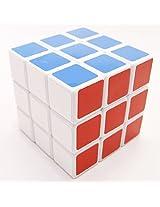 Lanlan Blue Magic 3X3 Sticker Speed Cube-White