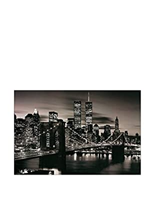 Artopweb Panel Decorativo Brooklyn Bridge (B&W) 90x60 cm Multicolor