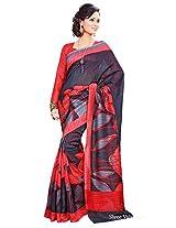 Shri Vaishnavi Designer raw silk printed Saree (12034)