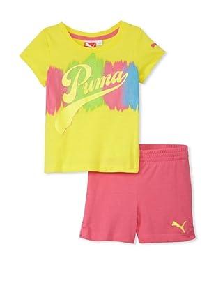 PUMA Girl's 2-6x Jersey Tee & Short Set (Buttercup Yellow)
