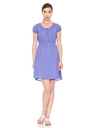 Mango Vestido Topito (Azul Marino)
