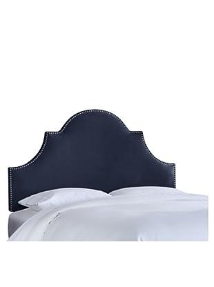 Skyline High Arch Nail Button Headboard (Regal Navy)