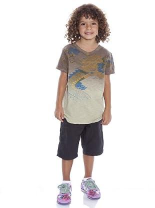 Custo Camiseta Lettim (Beige)