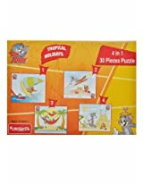 Funskool Tom and Jerry 4-in-1 Puzzle (Tropical Friends)