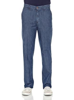 Carrera Jeans Pantalón Slacks 7 1/2 Oz (Azul Medio)