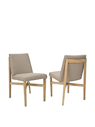 Safavieh Set of 2 Duncan Side Chairs, Olive