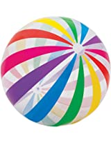 "INTEX Jumbo Inflatable Glossy Big Panel Colorful Giant Beach Ball 42"" Colour may vary"