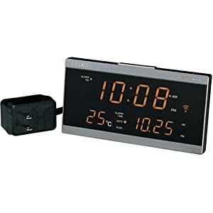 SEIKO CLOCK (セイコークロック) 目覚し時計 電波時計 LED デジタル表示 DL203N