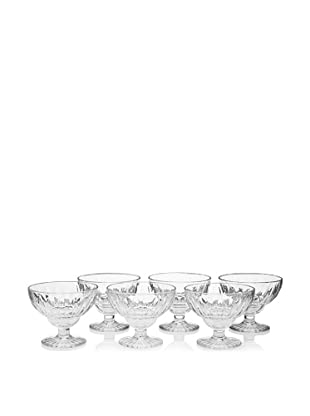 La Rochère Set Of 6 Classic Elise Footed Ice Cream Coupes, Clear, 14-Oz.