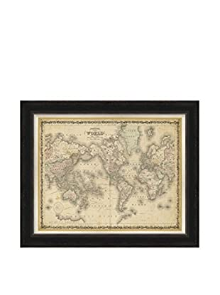 Surya Framed World Map Wall Décor, Multi, 28