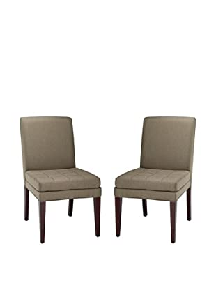 Safavieh Set of 2 Cole Side Chairs, Olive