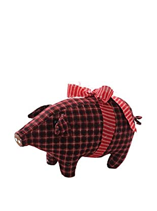 Winward Plaid Piglet, Red/Burgundy