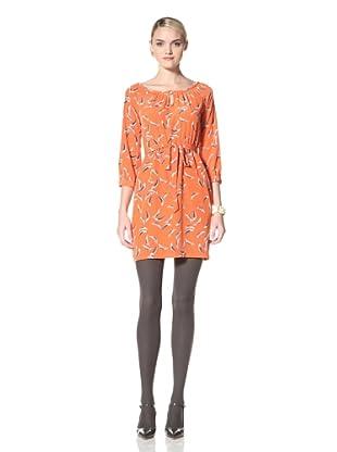 Yoana Baraschi Women's Little Feather Peasant Dress (Orange/Grey)
