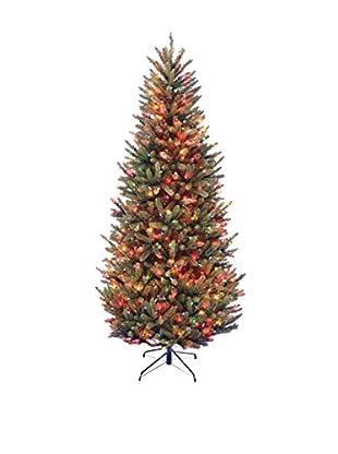 National Tree Company 7.5' Natural Fraser Slim Fir Hinged Tree