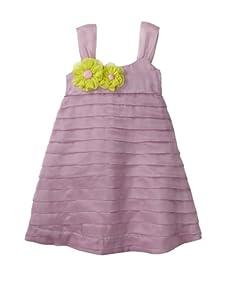 Lola et Moi Girl's Silk Organza Dress (Purple)