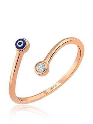 Divas Diamond Anillo Good Luck Eye Design (Oro)