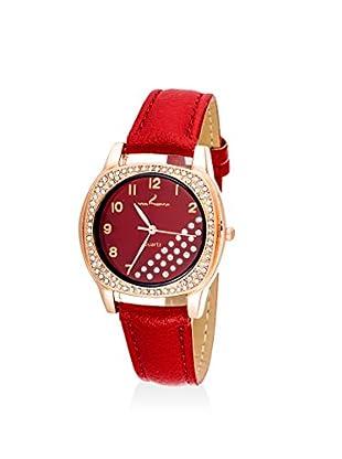 Via Nova Women's NWL308535Q-RE Red Leather Watch