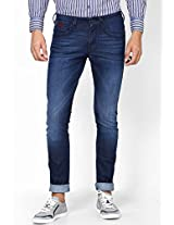 Blue Low Rise Skinny Fit Jeans Wrangler