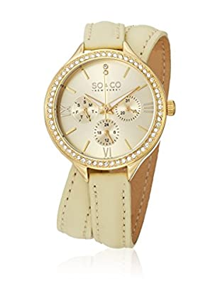 SO & CO New York Reloj de cuarzo  Beige 38 mm