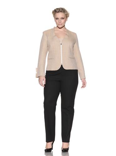 Z from Zenobia Women's Plus U-Neck Wool Jacket (Goldenrod)