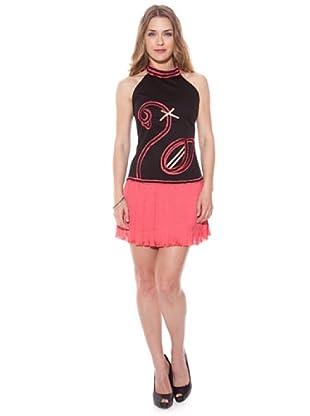 Divina Providencia Vestido Flamingo (Negro / Rosa)