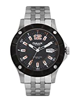 OMAX ANALOG BLACK DIAL CASUAL WATCH FOR MEN (MONTRES OMAX S.A. - A SWISS WATCH COMPANY)