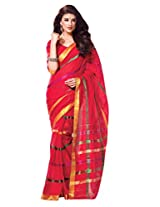 Pink Color Cotton Designer Saree with Zaree work and Blouse Chahat