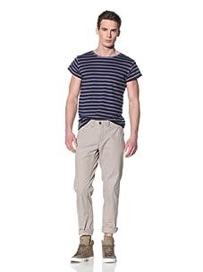 Antony Morato Men's Dip-Dye Stripe Tee (Royal Blue)