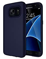 Samsung Galaxy S7 Case , Diztronic Full Matte TPU Series - Slim-Fit Soft Touch Flexible Phone Case for Samsung Galaxy S7 / GS7 - Full Matte Dark Navy Blue