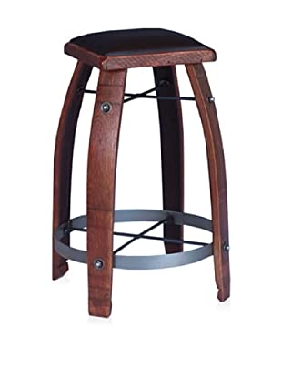 2 Day Designs Leather Stool (Chocolate)