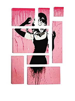 Banksy Audrey Hepburn Attacked By Cat 8-Piece Giclée On Canvas
