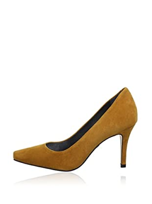Buffalo London 18445-867 KID SUEDE 140683 - Zapatos de tacón de cuero  mujer (Marrón)