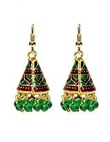 Elegant Meenakari Work Earrings