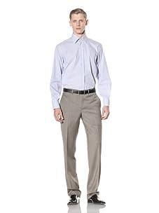 Yves Saint Laurent Men's Stripe Shirt (White/Light Blue)